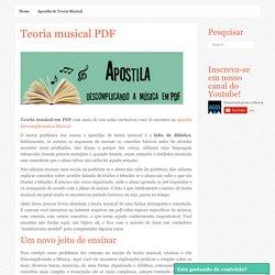 Teoria musical em PDF