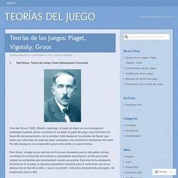 Teorías de los Juegos: Piaget, Vigotsky, Groos