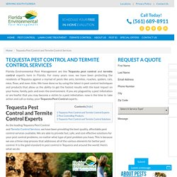 Tequesta Pest Control Services