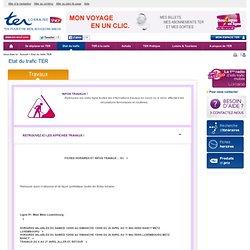 TER Lorraine - SNCF - Etat du trafic TER