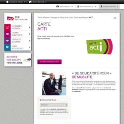 TER Pays de la Loire Carte actI