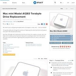 Mac mini Model A1283 Terabyte Drive Replacement