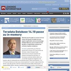 Teradata Database 14.10 passe au in-memory