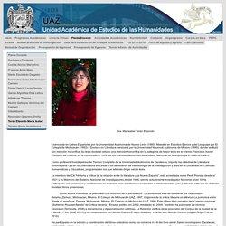 Terán Elizondo María Isabel - uaz.edu.mx