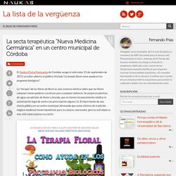 "La secta terapéutica ""Nueva Medicina Germánica"" en un centro municipal de Córdoba"