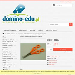 Nożyczki terapeutyczne z podwójnym uchwytem Domino-Edu.pl