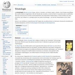 Tératologie