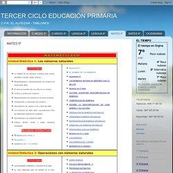 TERCER CICLO EDUCACIÓN PRIMARIA: MATES 5º