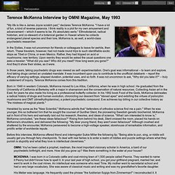 Terence McKenna Interview by OMNI Magazine, May 1993