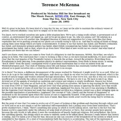 Terence McKenna live at Fez 6/20/93