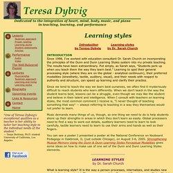 Teresa Dybvig, Dunn and Dunn Learning Styles