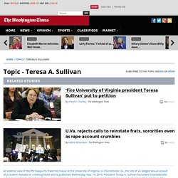 Teresa A. Sullivan - Bio, News, Photos