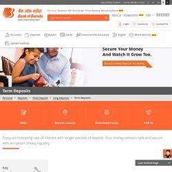 Online Term Deposit Account in India at Bank of Baroda