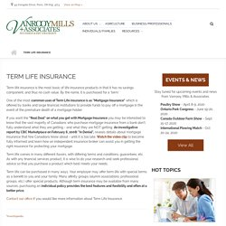 Term Insurance at Vanrooy Mills