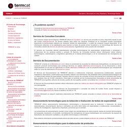 TERMCAT – Servicios de TERMCAT