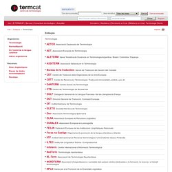TERMCAT, Centre de Terminologia – Enllaços