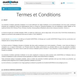 Termes et Conditions