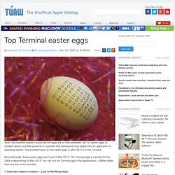 Top Terminal easter eggs