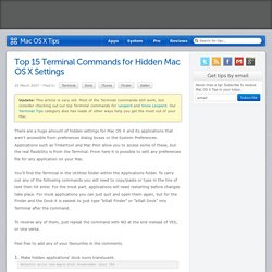 Top 15 Terminal Commands for Hidden Mac OS X Settings