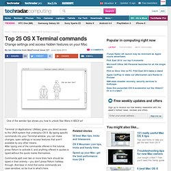 Top 25 OS X Terminal commands