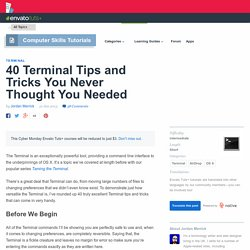 40 Terminal Tips and Tricks You Never Thought You Needed - Tuts+ Computer Skills Tutorial