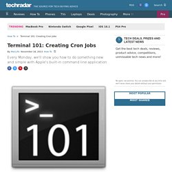 Terminal 101: Creating Cron Jobs