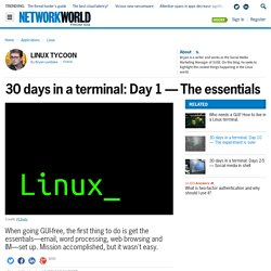 30 days in a terminal: Day 1 — The essentials