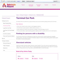 Online secure parking Adelaide - Adelaide Airport