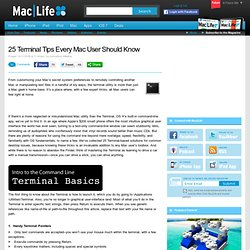 25 Terminal Tips Every Mac User Should Know
