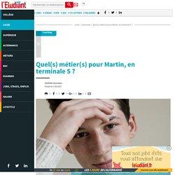 Quel(s) métier(s) pour Martin, en terminaleS? - Letudiant.fr - L'Etudiant