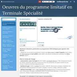 Oeuvres du programme limitatif Terminales spécialité
