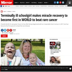 Terminally ill schoolgirl makes miracle recovery to become first in WORLD to beat rare cancer