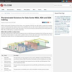 Pre-terminated Solutions for Data Center MDA, HDA and EDA Cabling - Blog of FS.COM