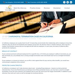 3 Wrongful Termination Cases in California