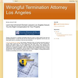 Land Use & Eminent Domain Lawyers Los Angeles