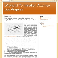 Best Wrongful Termination Attorney in Los Angeles