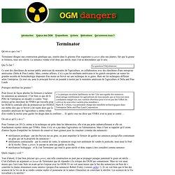 Terminator, GURT et OGM