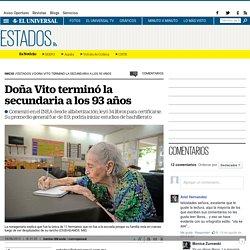 Doña Vito terminó la secundaria a los 93 años