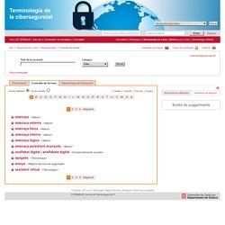 Terminologia de la ciberseguretat