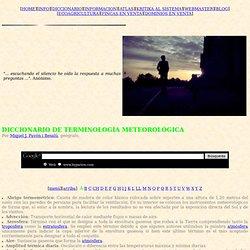 Diccionario de terminología meteorológica