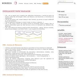 Mondeca ITM T3 : gestion thésaurus, taxonomie, terminologie, SKOS, listes contrôlées, dictionnaire de métadonnées - Mondeca