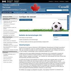 Lexique du soccer