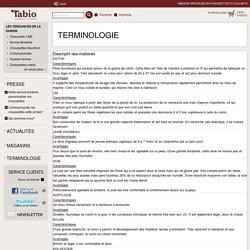 Terminologie : Tabio E-SHOP