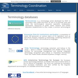Terminology databases - Terminology Coordination Unit [DGTRAD] - European Parliament