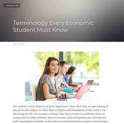 Terminology Every Economic Student Must Know