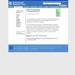 IWF Terminologie