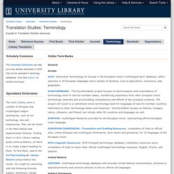 Terminology - Translation Studies - LibGuides at University of Illinois at Urbana-Champaign