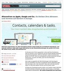Adress- und Terminverwaltung: Alternative zu US-Diensten