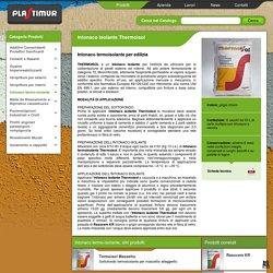 Intonaco termoisolante per edilizia Intonaco isolante Thermoisol