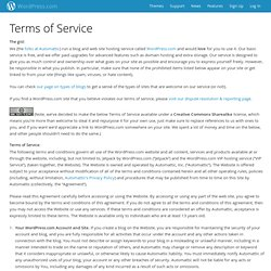 Terms of Service — WordPress.com